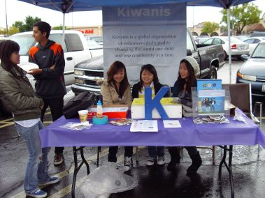 Kiwins a the Kiwanis Club Breakfast Nov 2008