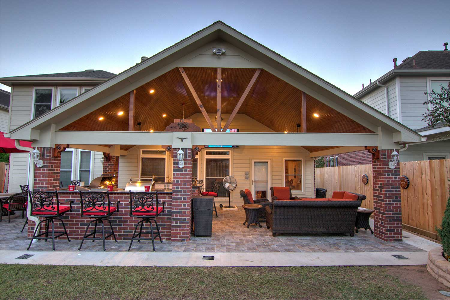 Patio Cover + Outdoor Kitchen - HHI Patio Covers on Backyard Patio Cover  id=37543