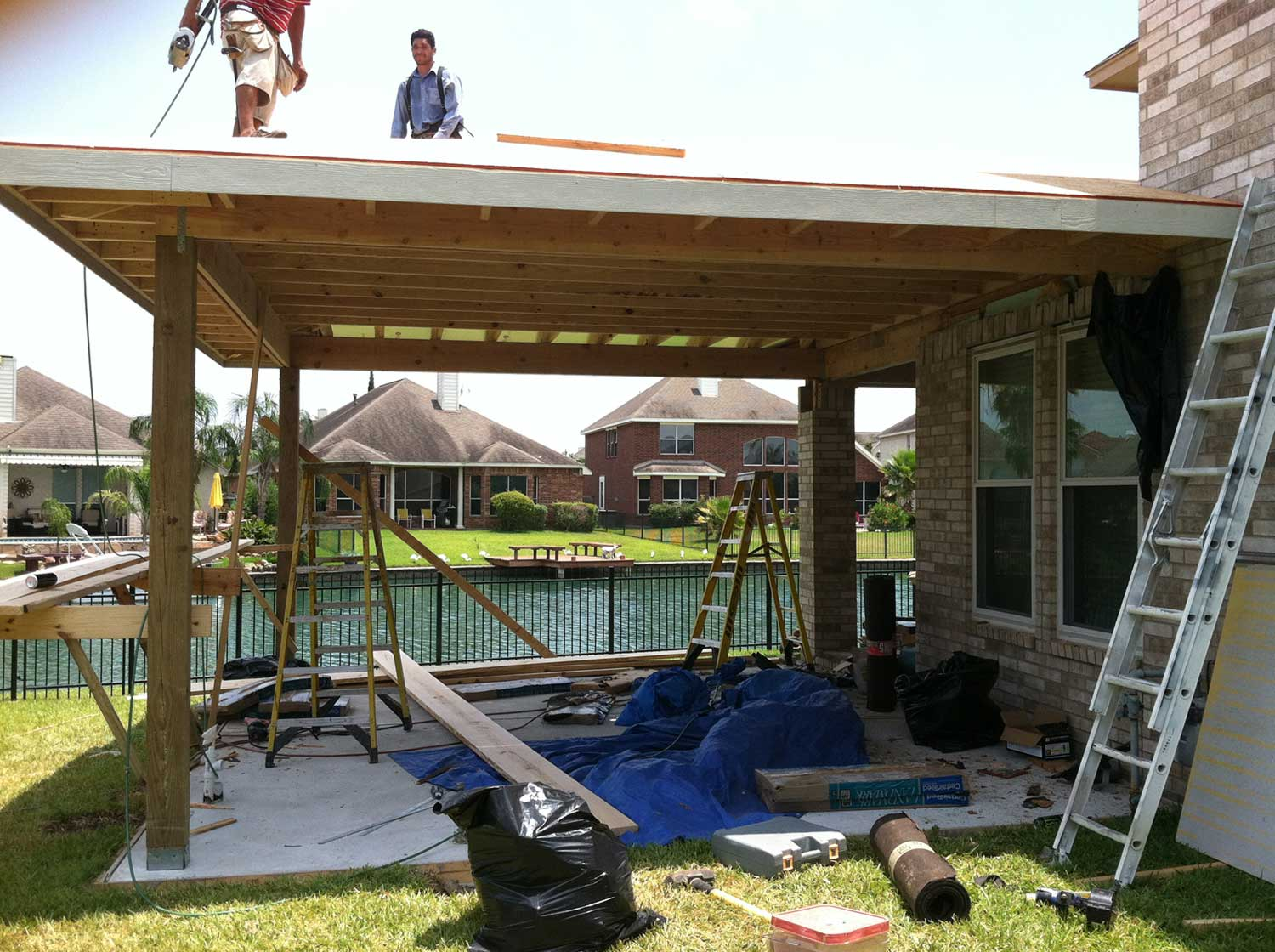 Patio Cover + Outdoor Kitchen - HHI Patio Covers on Backyard Patio Cover  id=31849
