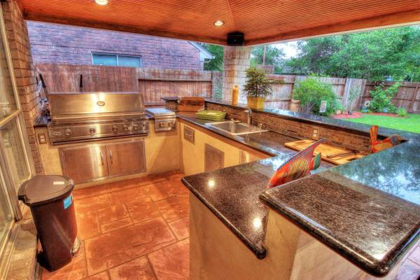 cover patio with outdoor kitchen Outdoor Kitchens - HHI Patio Covers Houston