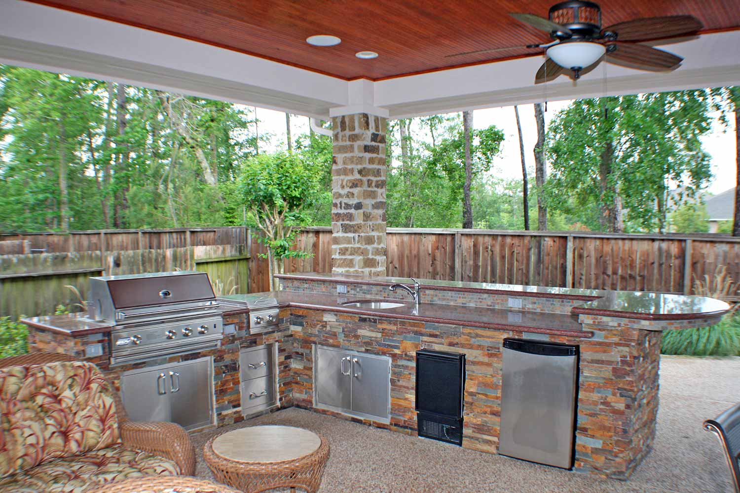 Outdoor Kitchens - HHI Patio Covers Houston on Outdoor Kitchen Patio id=67106
