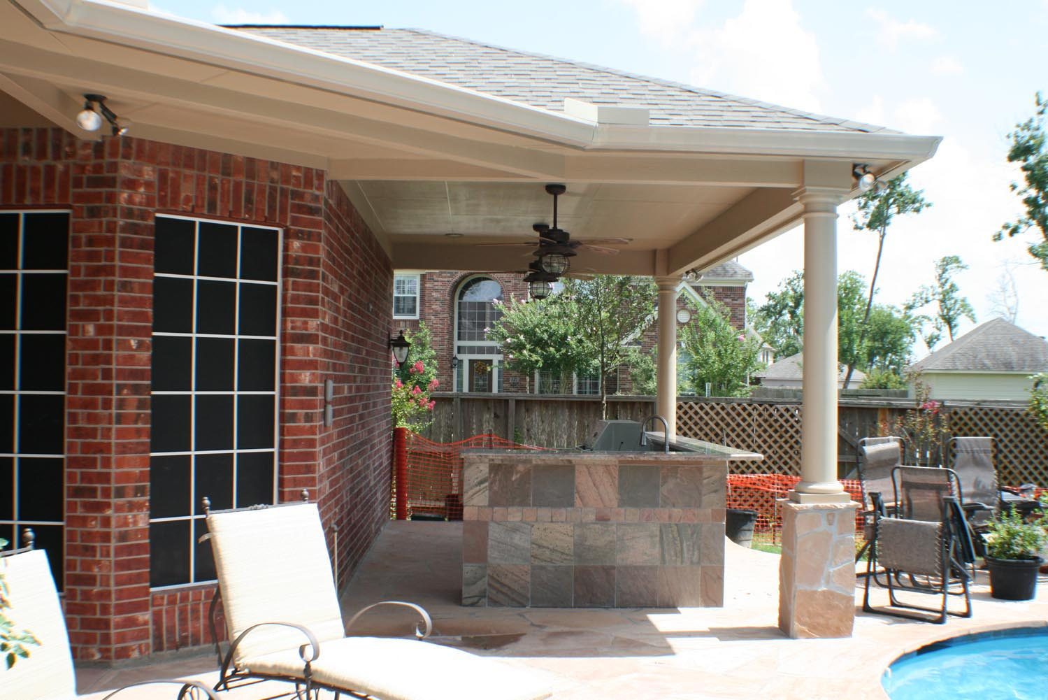 Patio Cover + Outdoor Kitchen - HHI Patio Covers on Backyard Patio Cover  id=63300