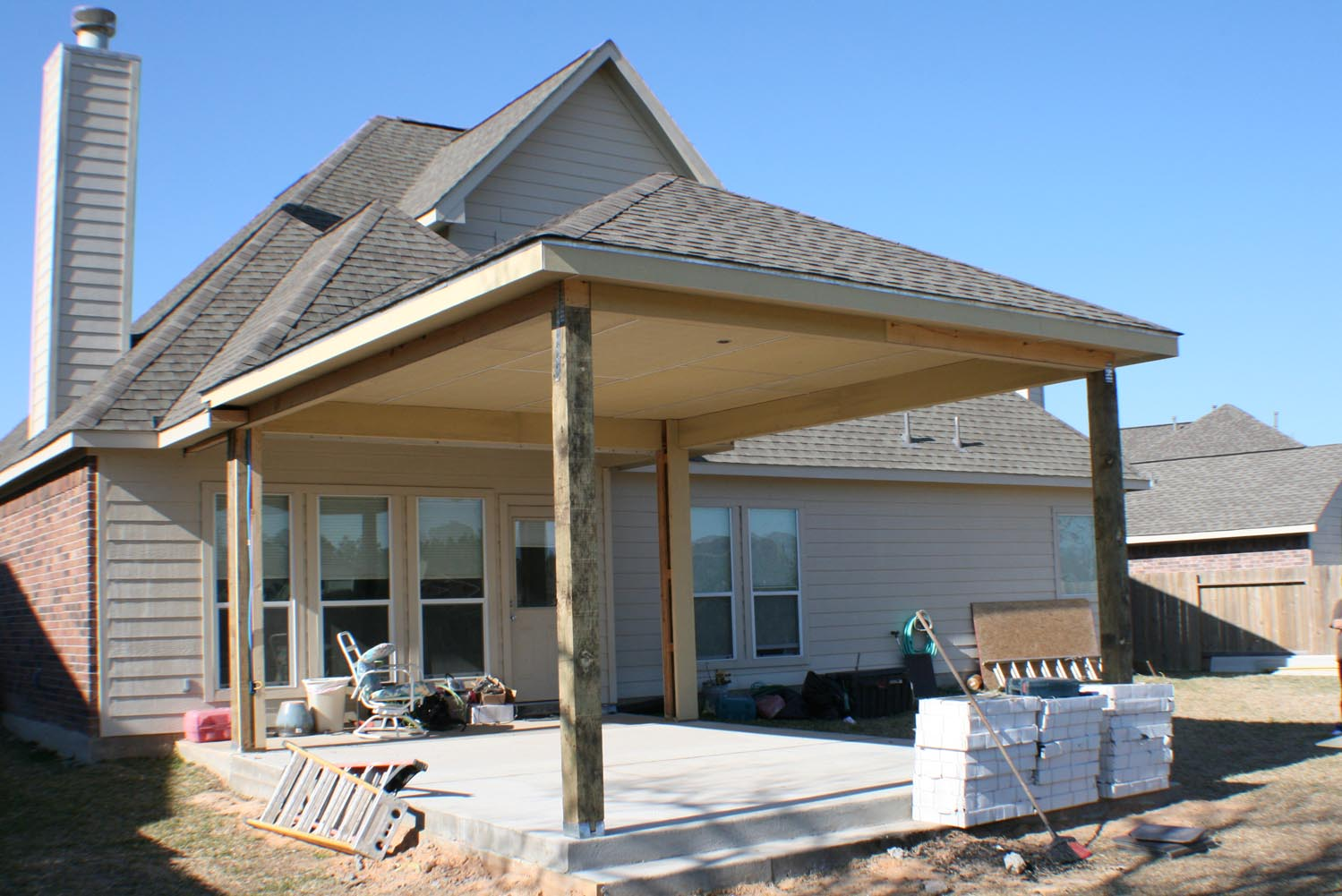 16 by 20 Patio Cover + Outdoor Kitchen - HHI Patio Covers on Backyard Patio Cover  id=37932