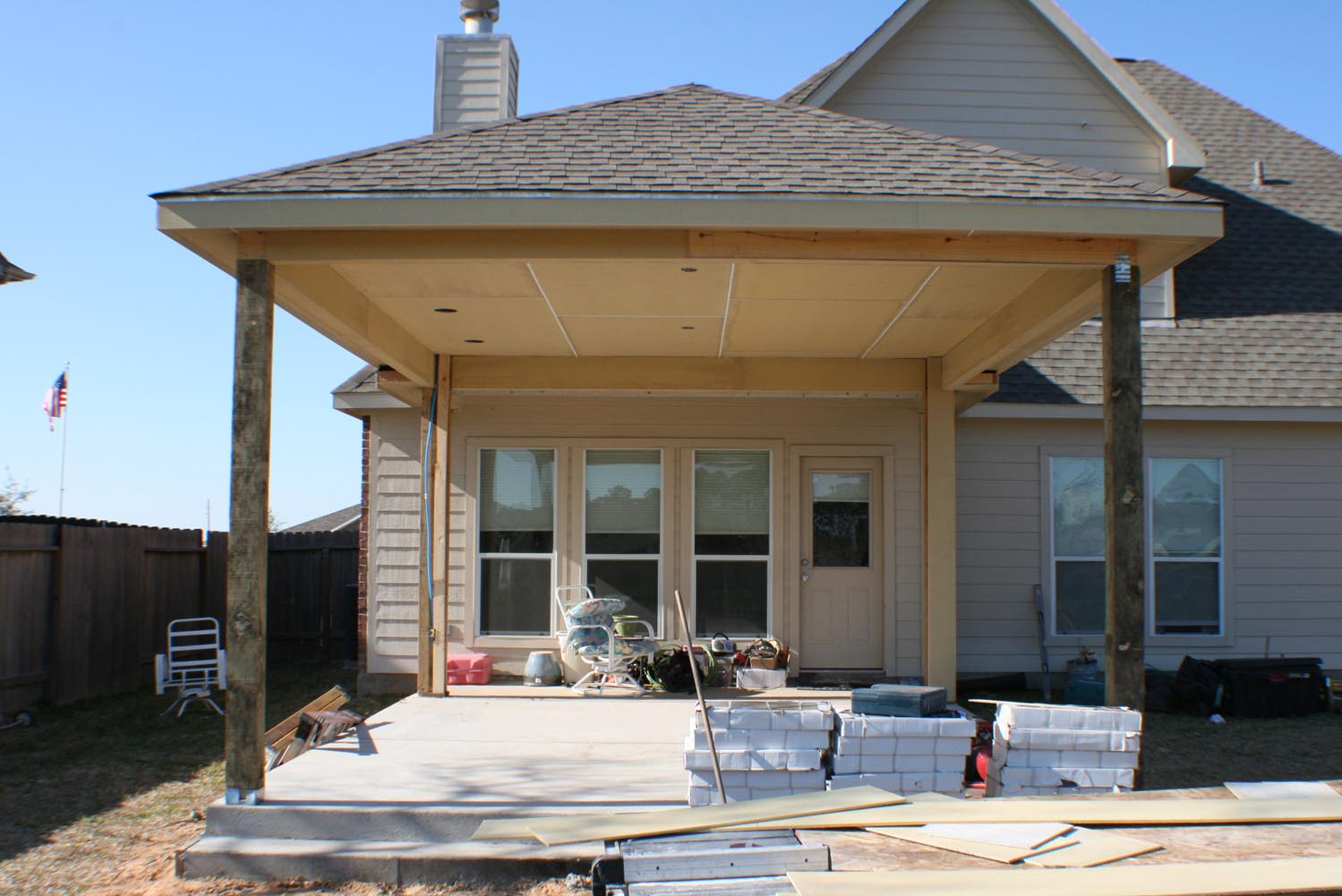 16 by 20 Patio Cover + Outdoor Kitchen - HHI Patio Covers on Backyard Patio Cover  id=23018