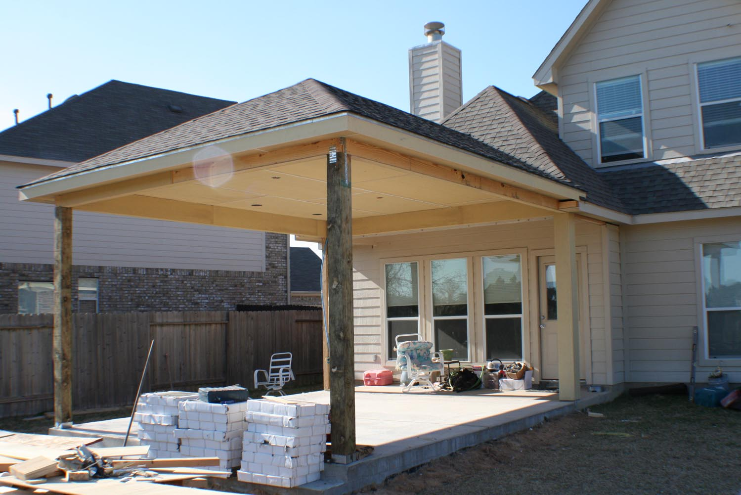 16 by 20 Patio Cover + Outdoor Kitchen - HHI Patio Covers on Backyard Patio Cover  id=29739
