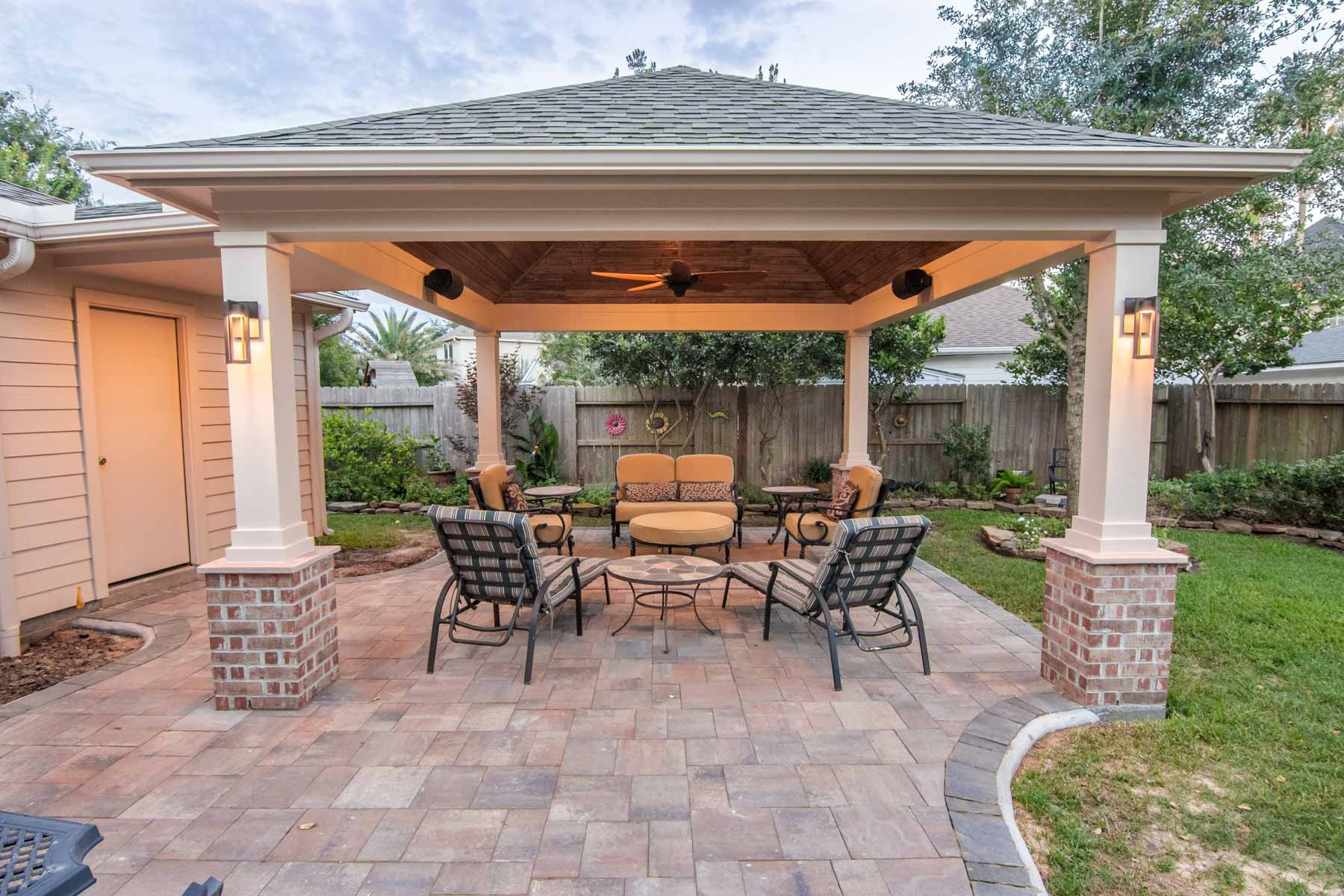 Hip Roof Patio Cover in Copperfield - HHI Patio Covers on Patio Cover Ideas Images id=59749
