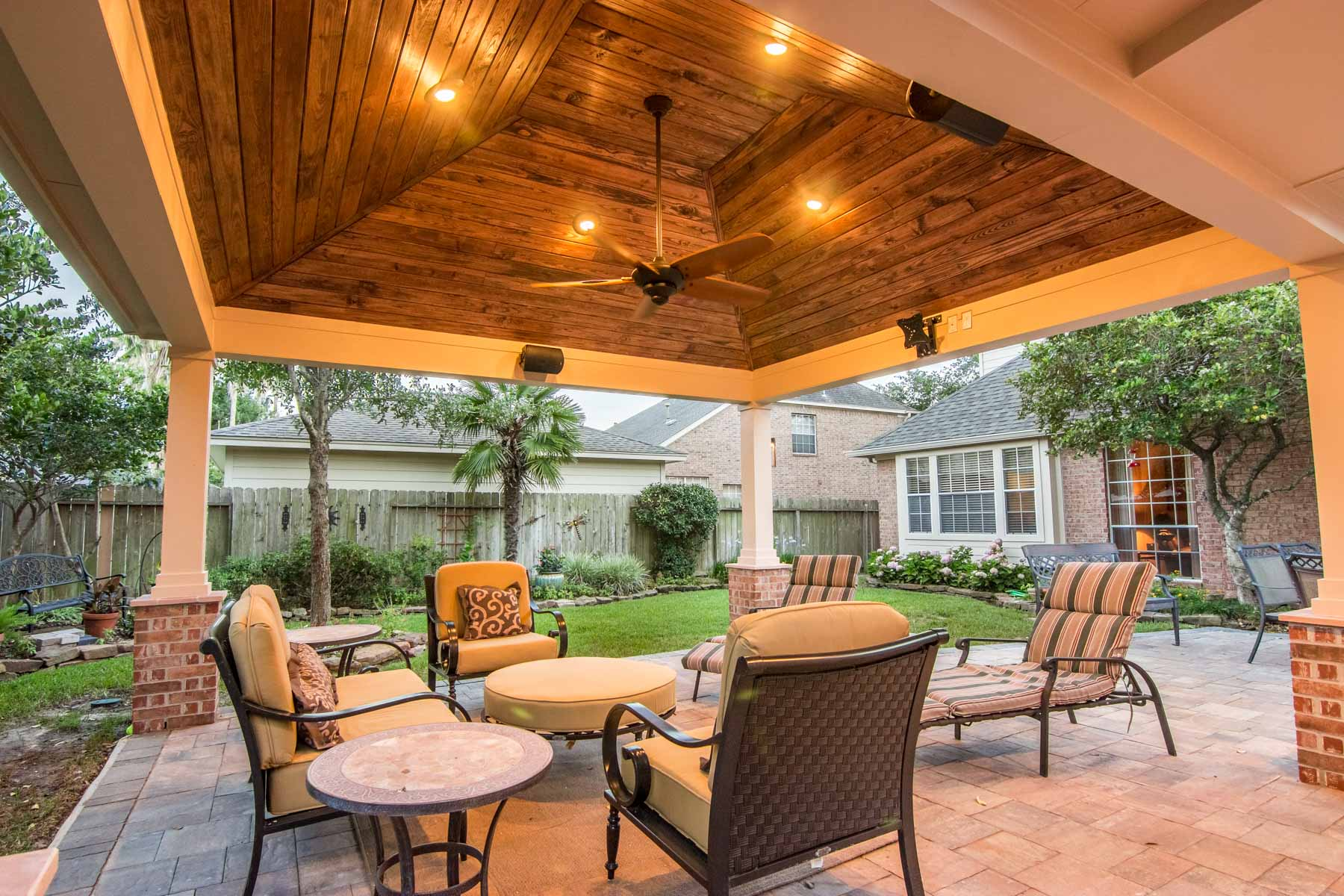 Hip Roof Patio Cover in Copperfield - HHI Patio Covers on Patio Cover Ideas Wood id=58200