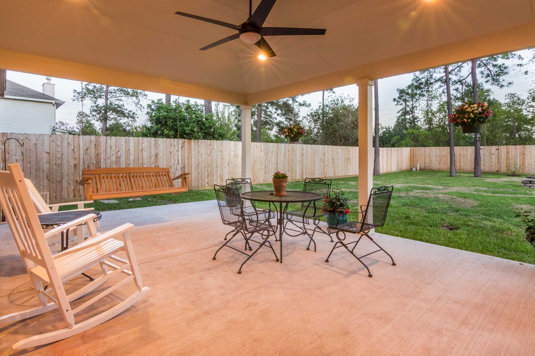 Hip roof Patio Cover - HHI Patio Covers on Backyard Patio Covers  id=61579