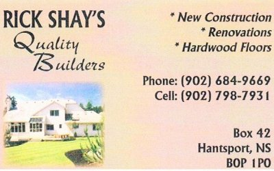 Silver Sponsor – Rick Shay's Quality Builders