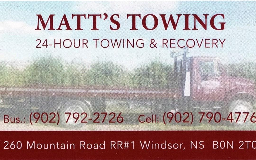 Bronze Sponsor – Matt's Towing