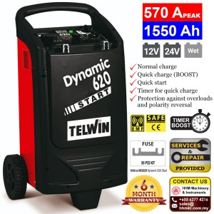 Battery Charger and Starter Dynamic 620 Start
