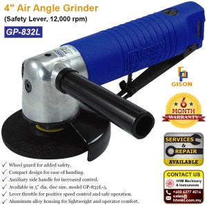 4″ Air Angle Grinder (Safety Lever, 12,000 rpm) GP-832L