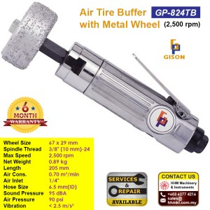 Air Tire Buffer With Metal Wheel (2500 rpm) GP-824TB