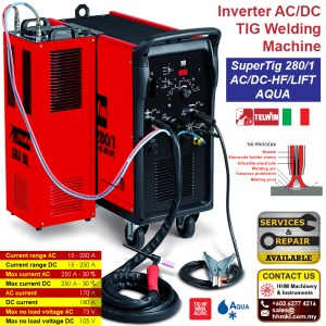 Inverter AC/DC TIG Welding Machine – SuperTig 280/1 AC/DC-HF/LIFT AQUA