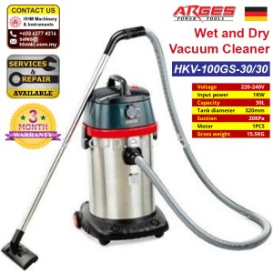 ARGES Wet and Dry Vacuum Cleaner HKV-100GS-30/30