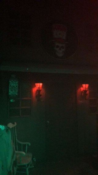 The entry façade to the second house, which was voodoo themed.