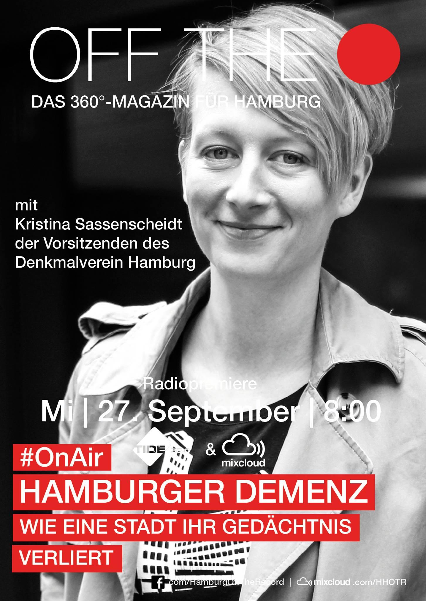 Off The Record OnAir Hamburger Demenz mit Kristina Sassenscheidt cover