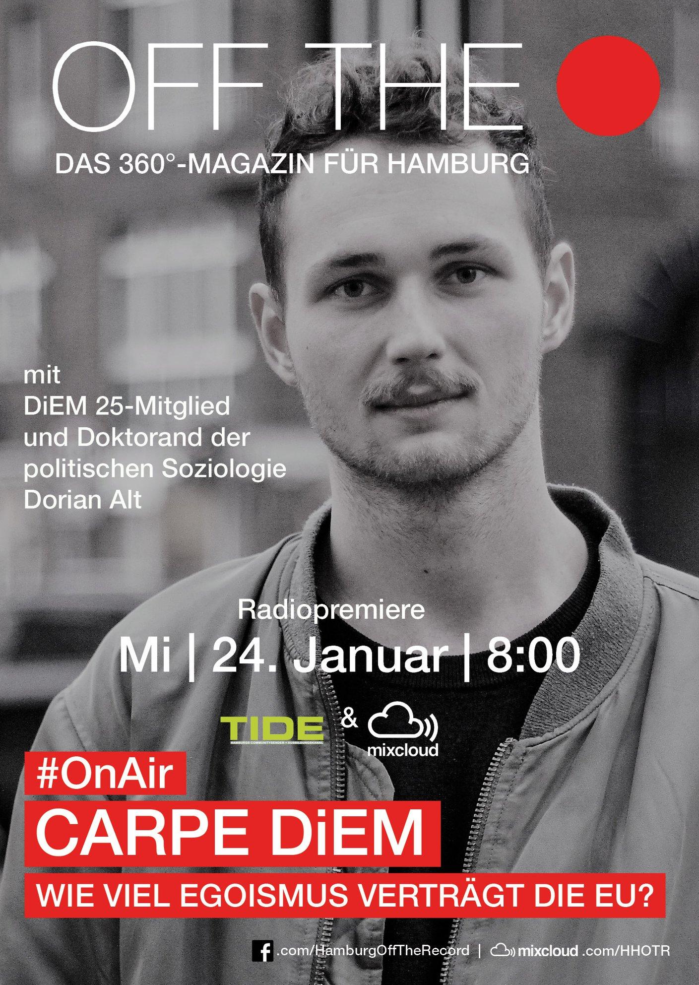 HHOTR ONSTAGE Dorian Alt Carpe DiEM Poster