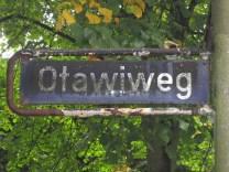 1942 benannter Otawiweg in Hamburg-Bahrenfeld (Foto: Anke Schwarzer ©)