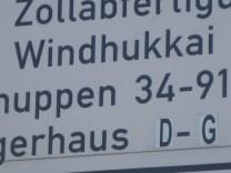 Auch einen Windukkai gibt es im Hamburger Hafen (Foto: Anke Schwarzer ©)