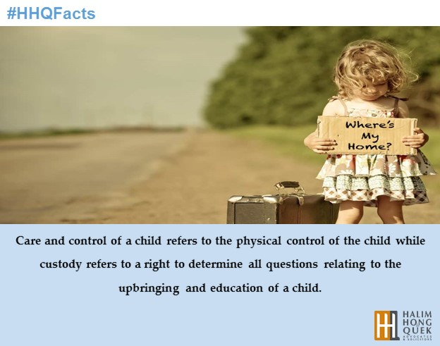 #HHQFacts – Differences between custody, care and control of a child | Case & Facts by HHQ | Law Firm in KL Malaysia
