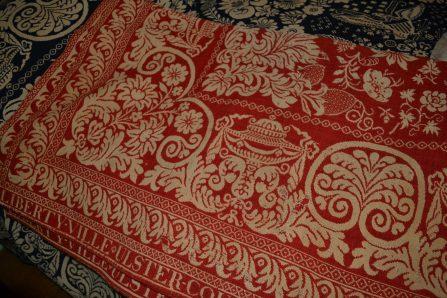 A woven coverlet of Ida DuBois