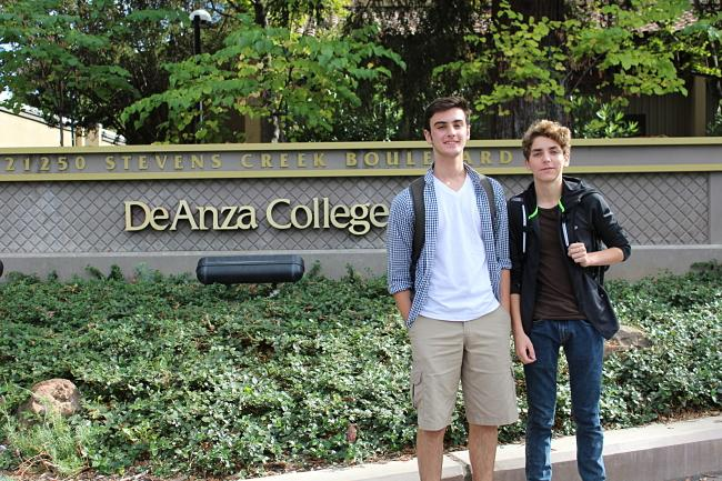 Middle+college+students+Declan+Reiser+%28right%29+and+Eric+Albanese+started+school+on+September+10.
