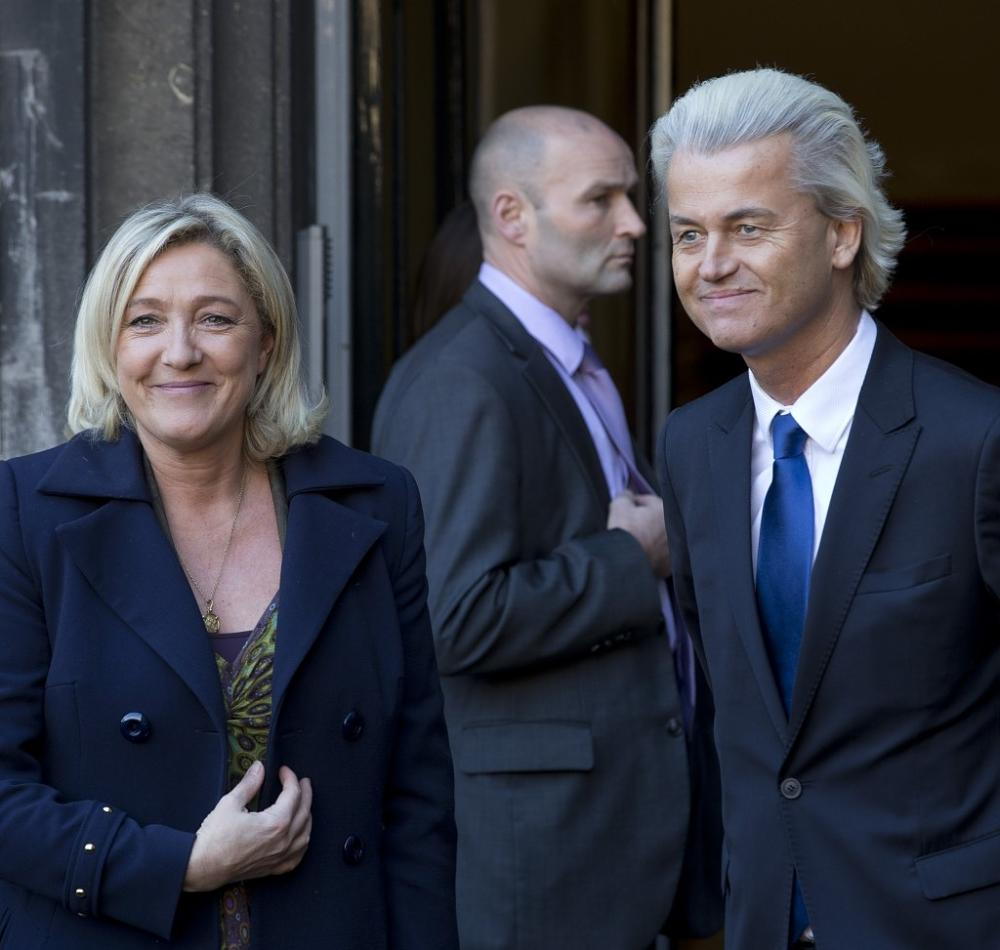 French presidential candidate Marine Le Pen (left) and Dutch prime ministerial candidate Geert Wilders have similarly shaken up the political landscapes and national sentiments in their respective countries. Photo Courtesy of GlobalResearch.