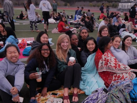 Seniors Larissa Lai, Gloria Selvaraj, Jingwen Li, Rebecca Fenselau, Alannah Wilson, Sangeetha Vampati, Moe Hagiwara, Sanjana Koka, Julia Clark, Sophea Bonne, and Sarah Moll (left to right, bottom to top)