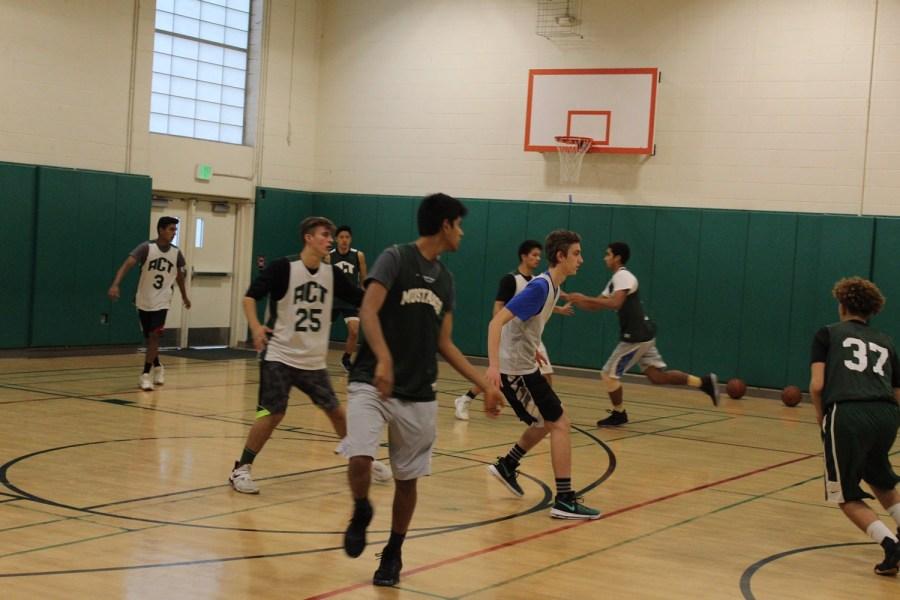 Players+work+hard+in+preparation+of+their+first+game+against+Terra+Nova+HIgh+School.