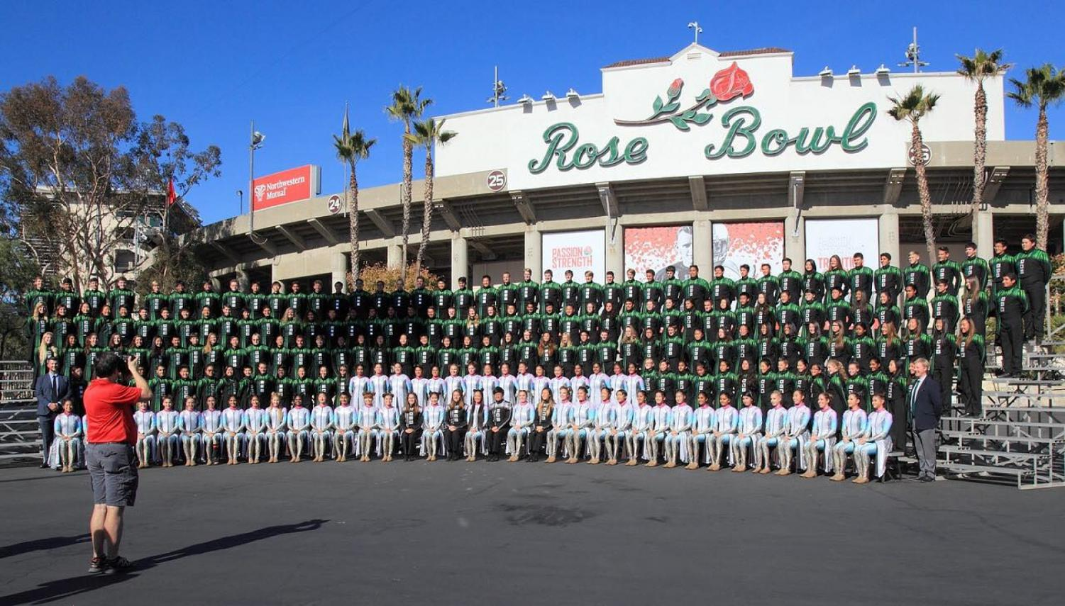 Band marches through the Rose Parade