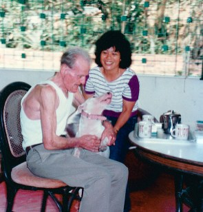 Socorro moved to Singapore in 1984 to work for retired British officer Frederick Minns whose wife was paralyzed. (Socorro Alfonso Collection)