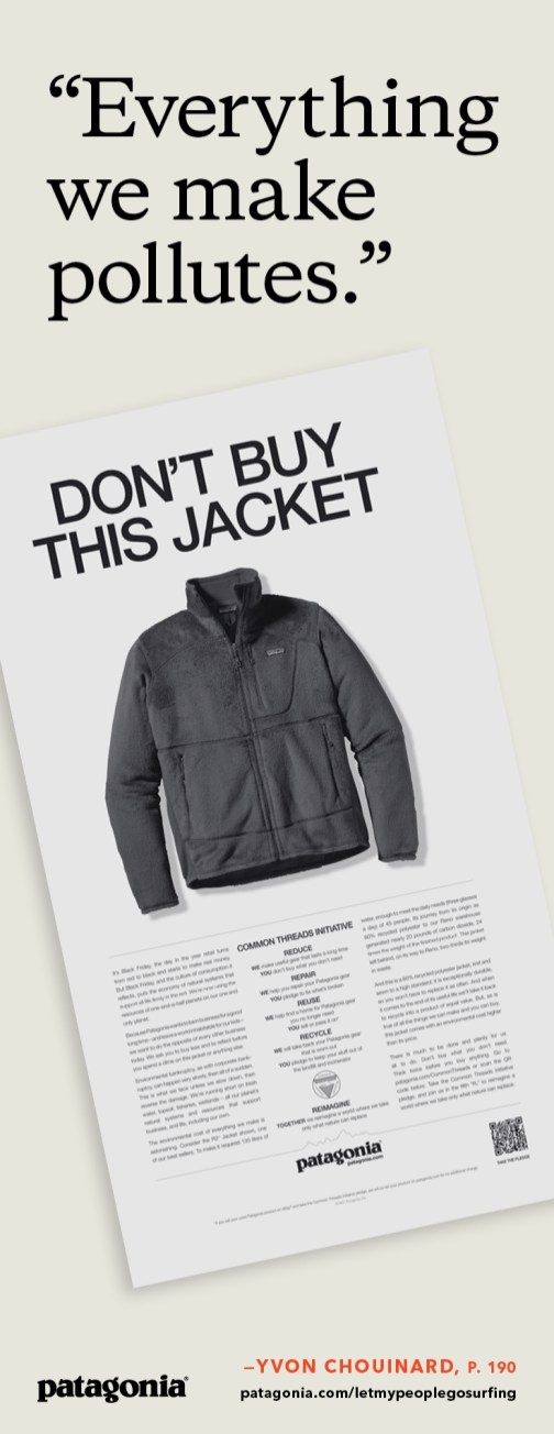 Advertisement in the New York Times, November 25th, 2011 (Black Friday)