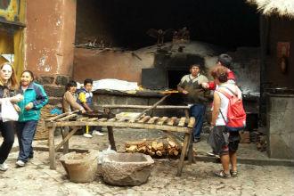 Comida de rua no Peru