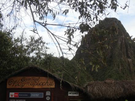 A entrada para Wayna Picchu