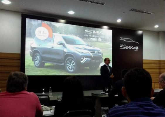 Miguel Fonseca, Vice-presidente executivo de Marketing durante apresentação do SW4
