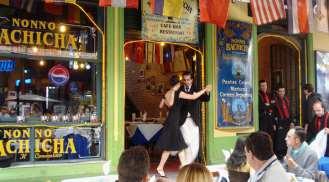 tango no Caminito, em Buenos Aires, Argentina (Foto: Hi-Mundim)