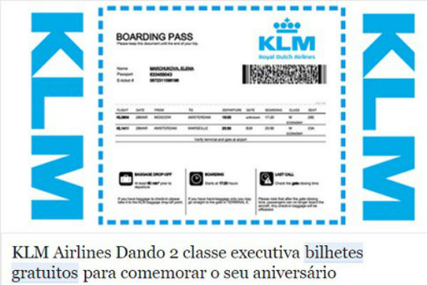 A verdade sobre a promoção da KLM e LATAM no Facebook
