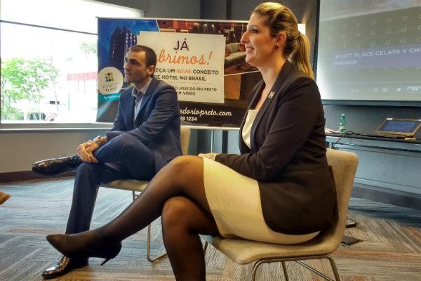 Luciano Julio, diretor regional de Operações para a América Latina das marcas Hyatt Place e Hyatt House e Sarah