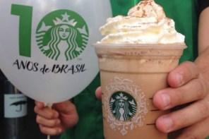 Starbucks distribui cafés para comemorar 10 anos no Brasil