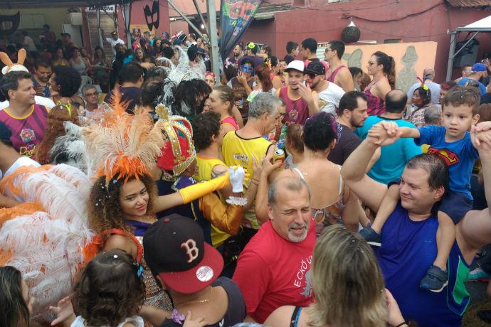 Bloco de Carnaval do Vasco em 2017 (Foto: Hi-Mundim)