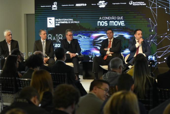 Executivos falam sobre o Salão do Automóvel 2018 (Marcos Lins)