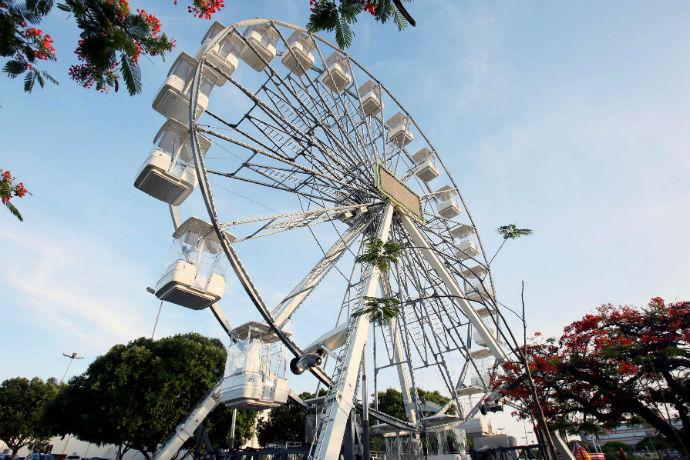 Roda-gigante para famílias e até pets em Rio Preto