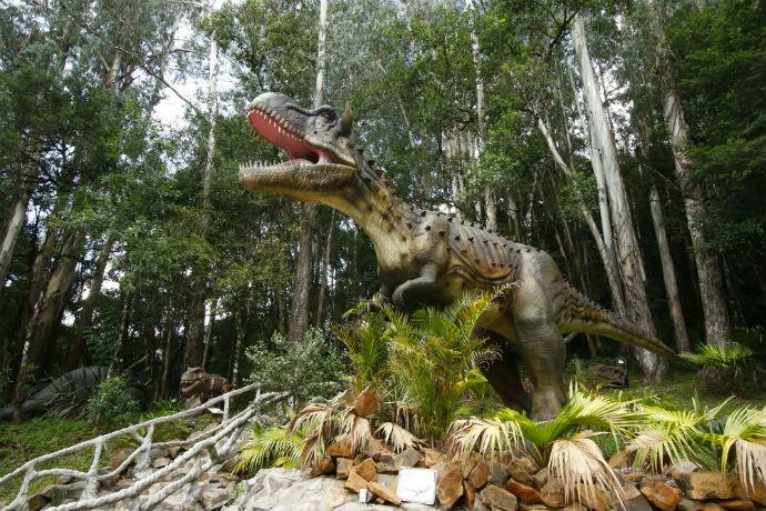 Vale dos Dinossauros é nova atração em Olímpia