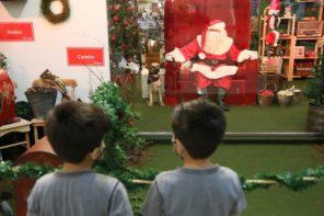 Riopreto Shopping: Papai Noel se adapta à pandemia