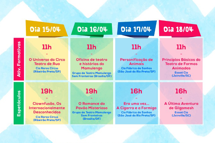 Festival Janeiro - Edição Especial Grade