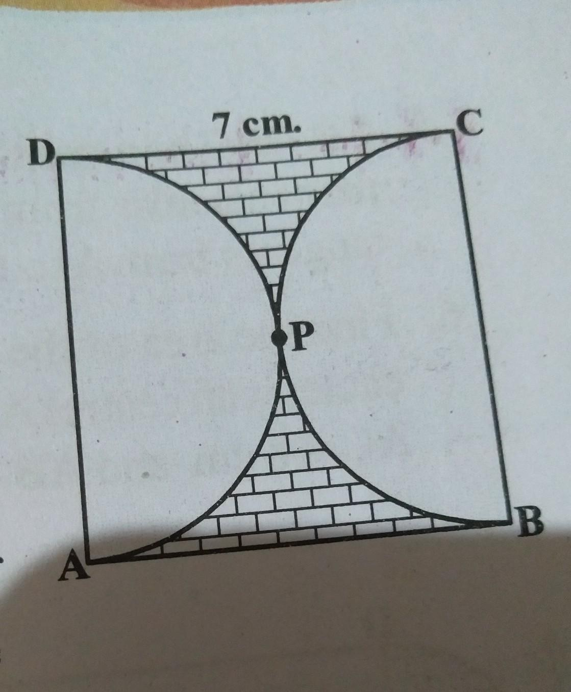 Find The Area Of The Shaded Region In Figure If Abcd Is A