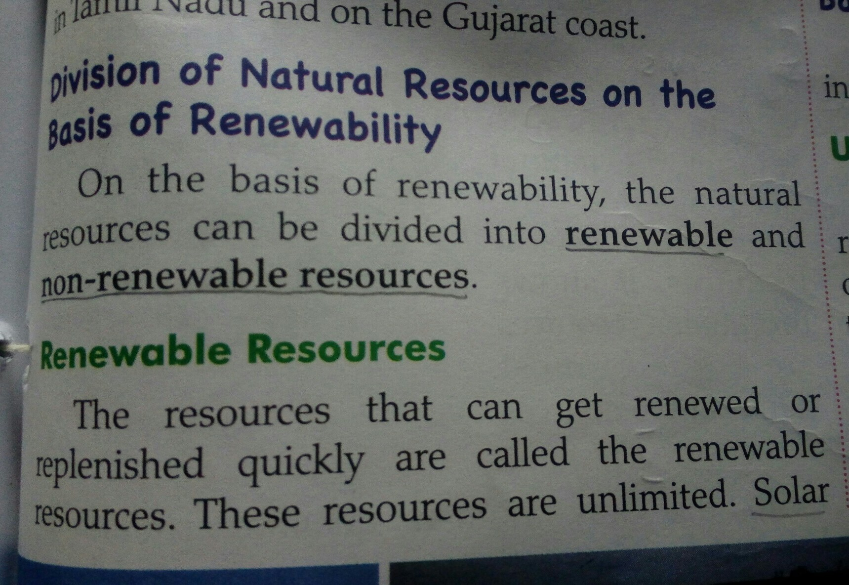 Example Of Renewable Resources And Nonrenewable Resources