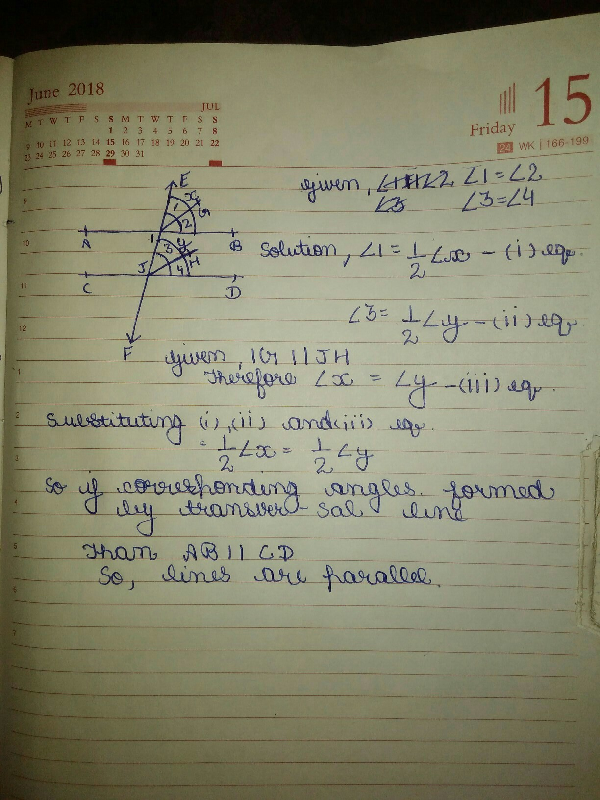 If A Transversal Intersects Two Lines Such That The