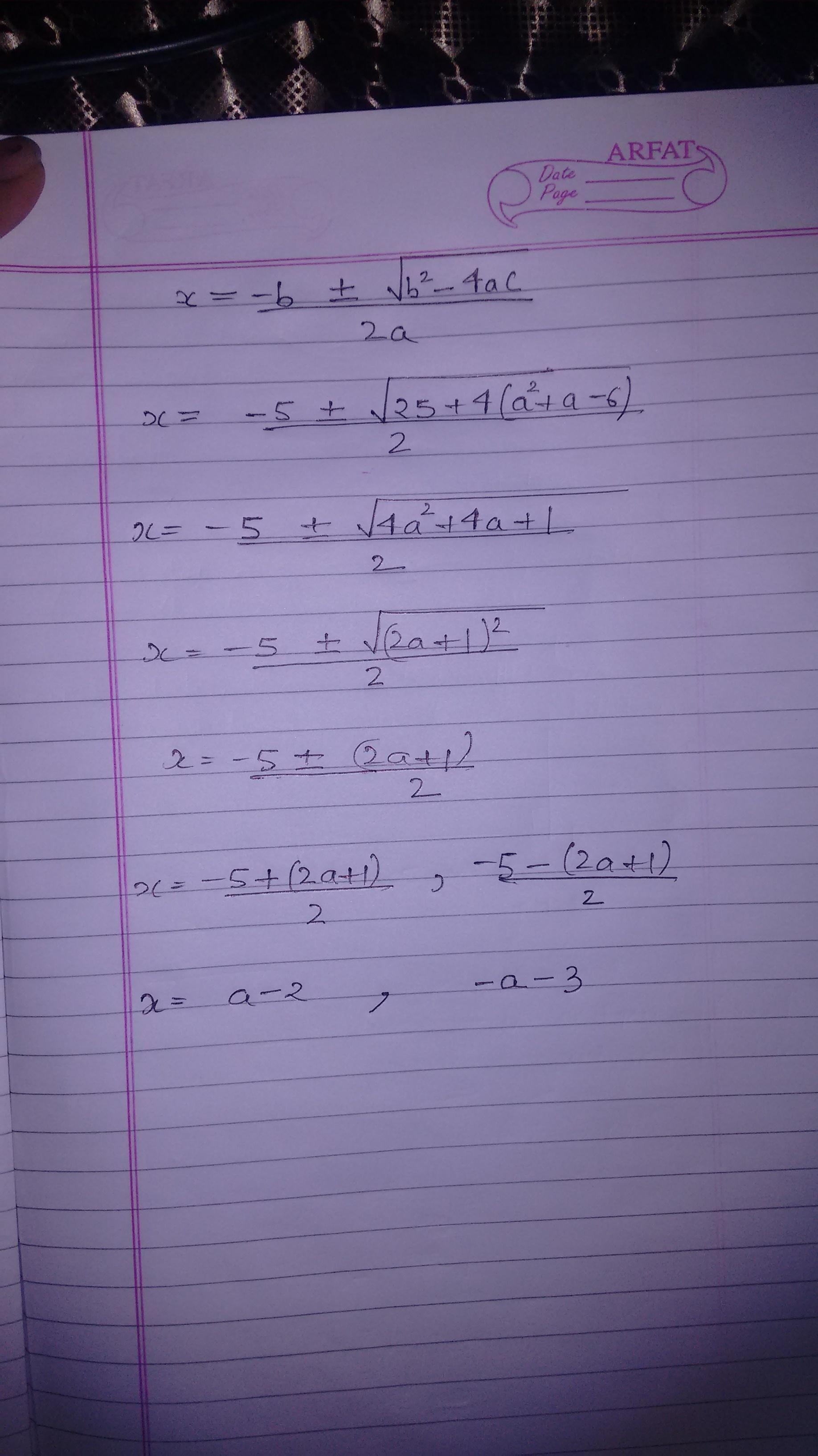 Solve This Quadratic Equation X 2 5x 8 0